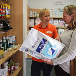 Pet care products at quantock Vet hospital