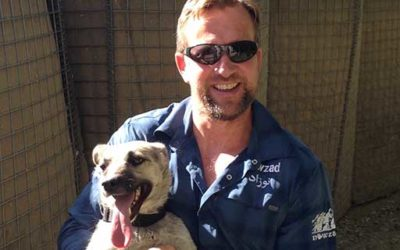 Nowzad CEO Pen Farthing gives talk at Quantock Veterinary Hospital
