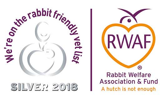 Quantock Vets re-awarded Rabbit Friendly Clinic Silver status!