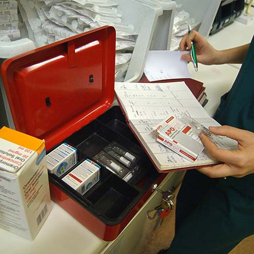 Emergency drugs at Somerset Veterinary Emergency Clinic